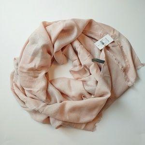 Ann Taylor pink & silver Scarve. NWT